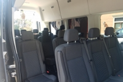 Houston passenger van interior