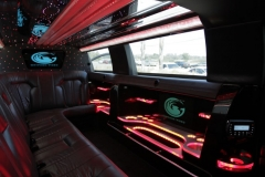 Houston limo rental interior