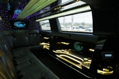 Houston stretch limo interior
