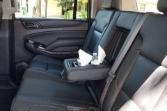 Houston suburban limo back seat