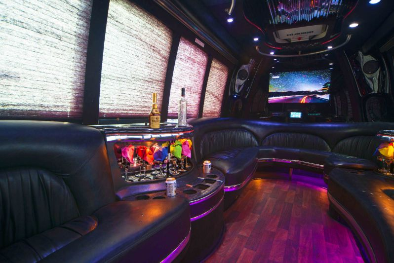 Houston party bus interior