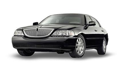 Black Lincoln Town Car Sedan