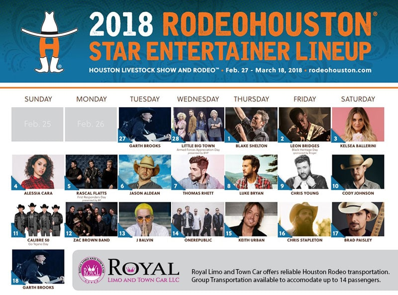 Houston Rodeo 2018 Lineup