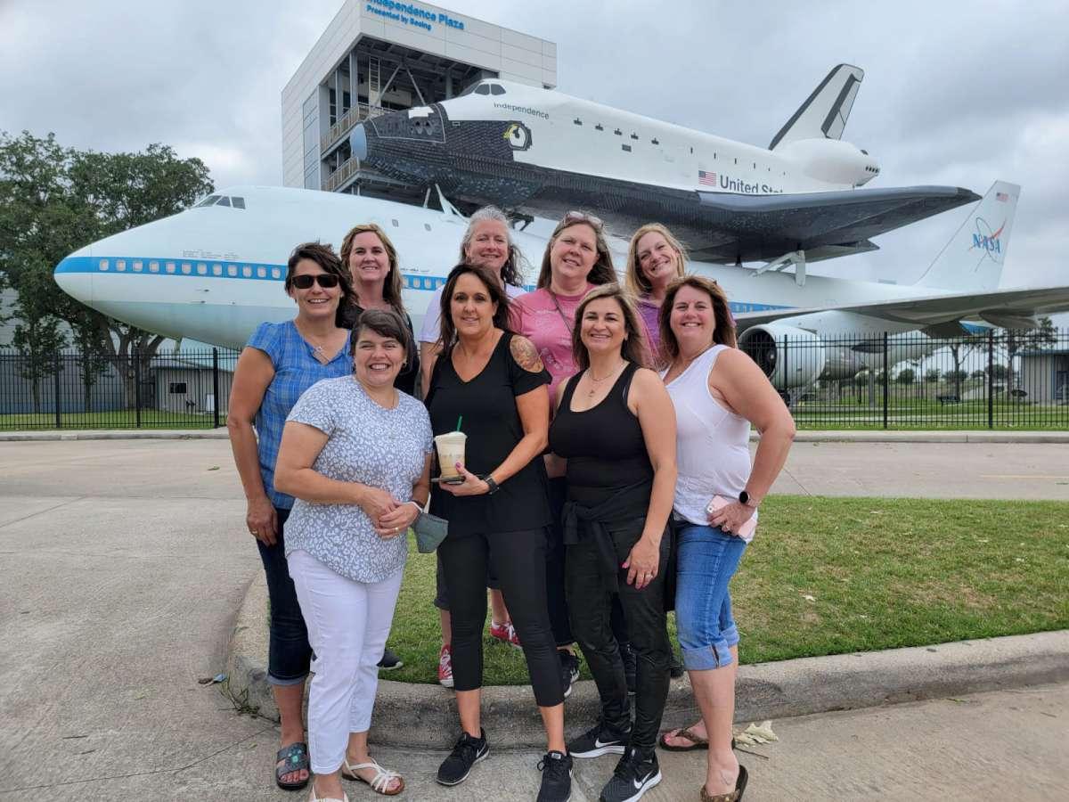 Houston space center transportation